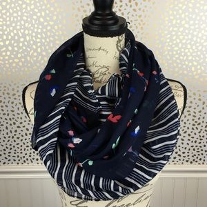 Stripe Floral Infinity Fashion Scarf